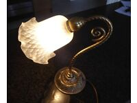 A GORGEOUS CHRISTOPHER WRAY LAMP - LOVELY GLASS SHADE