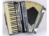 Vintage Galanti Accordion - Grey Pearl - 120 Bass 4 Voice.