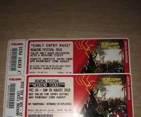 2x Early Bird Reading Full weekend Camping Ticket(s)