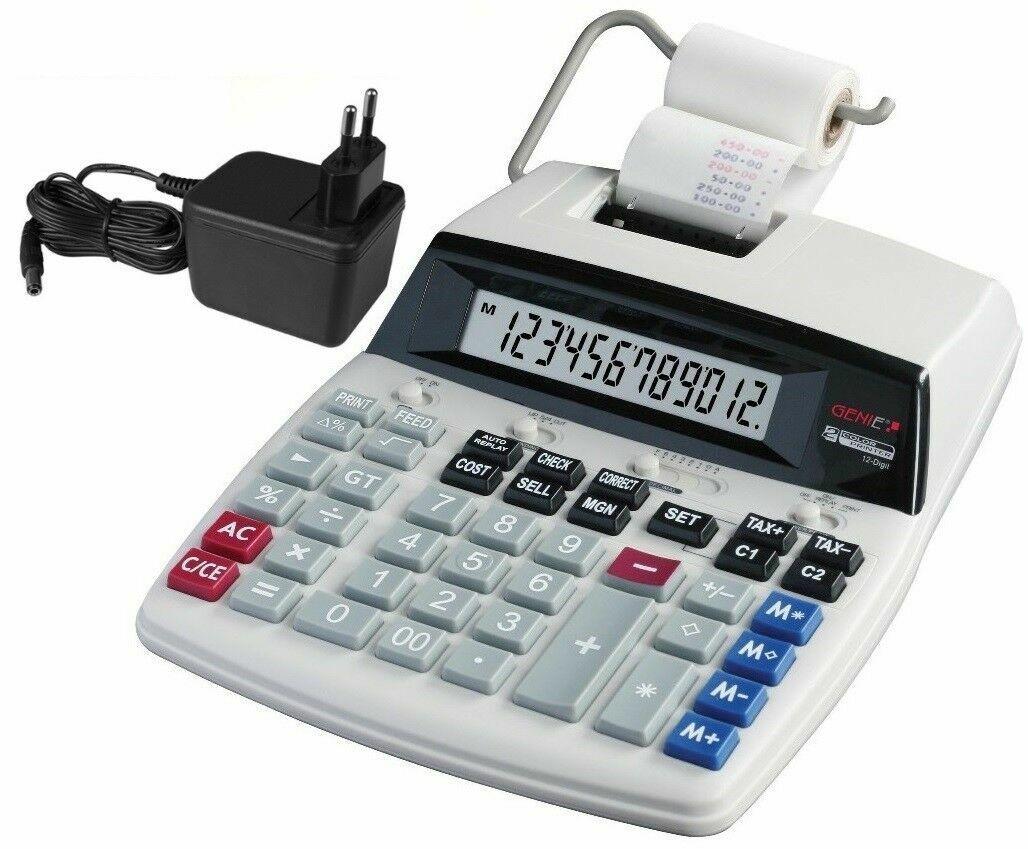 GENIE D69 Plus Druckender Tischrechner NEU! Rechenmaschine Rechner Kasse Drucker