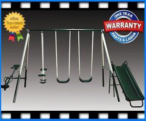 NEW-5-Pc-Children-Multiplay-Swingset-Swing-Set-Play-Outdoor-SLIDE-PLAYGROUND