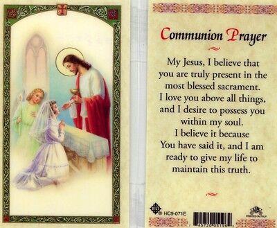 First Communion Prayer Card For Girls Catholic Sacrament - JimsStoreUSA HC9-071E