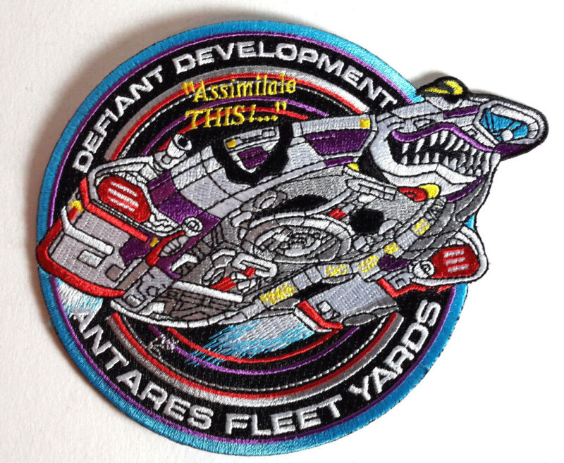 """Star Trek DS9 Defiant Development 5.5"""" DELUXE Embroidered Patch- Mailed from USA"""