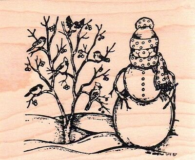 Штампы New NORTHWOODS RUBBER STAMP Winter