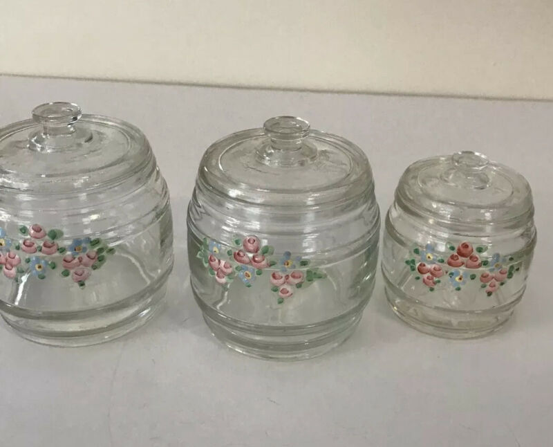 Vintage Glass Vanity Set For Baby