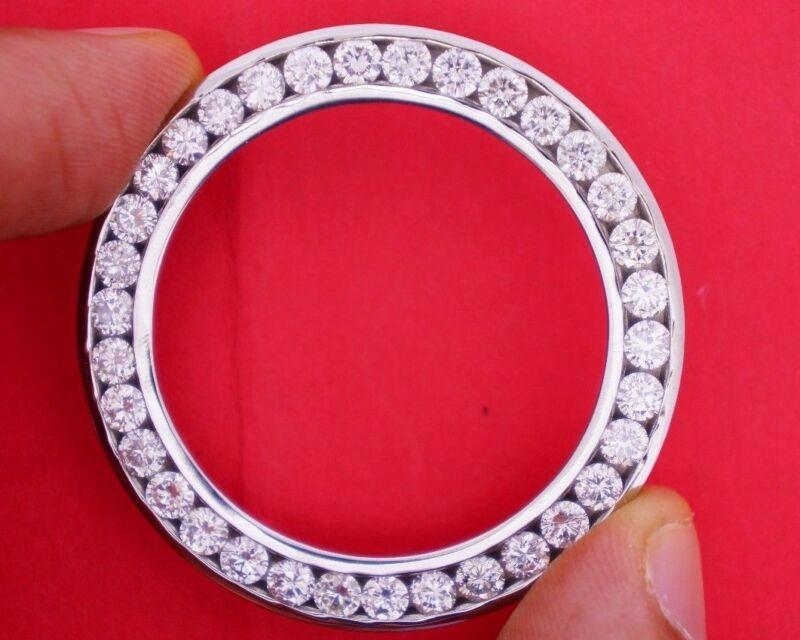 6.20 Ct Diamond Bezel Rolex for DateJust II 2 41 MM Watch Channel Set Huge