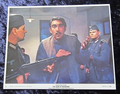 The Guns Of Navarone lobby card # 2 Gregory Peck, David Niven, Anthony Quinn