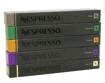 (Nestle Nespresso Coffee Pods Variety Pack for OriginalLine, 50 Capsules. )