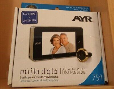 AYR 754- Mirilla digital color laton. Nuevo sin desprecintar