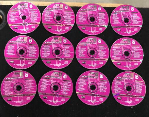 Priddis Pro Sound Karaoke CD+G CDG 1-12 complete 12 disc set.