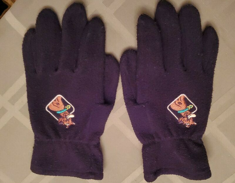 Scooby doo gloves fleece black excellent pre owned vtg. free ship women size