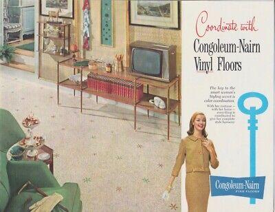 Vintage CONGOLEUM-NAIRN FINE FLOORS Vinyl Floors Mid-Century Modern MCM Brochure