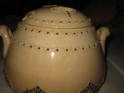 grosses Bowlegefäss beige Jugendstil um 1905 Paul Wynand - alt Bowletopf Keramik