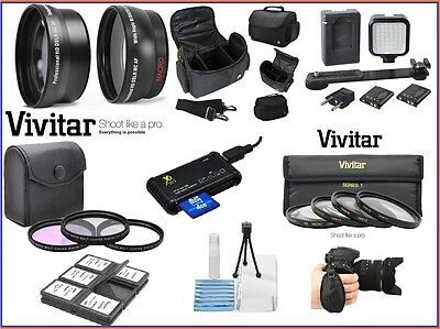 Alta Def Super Deluxe Accesorio Paquete para Nikon D5500 D5300 D5200 D5100...