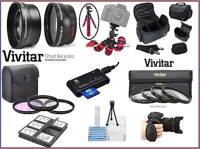 Pro HD Super Deluxe Zubehör Set für Canon Eos Rebel T4i T5i T5 T3 T3i T2i T1i ()