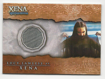 Lucy Lawless Xena Beauty And Brawn Costume Material Relic Card  C6