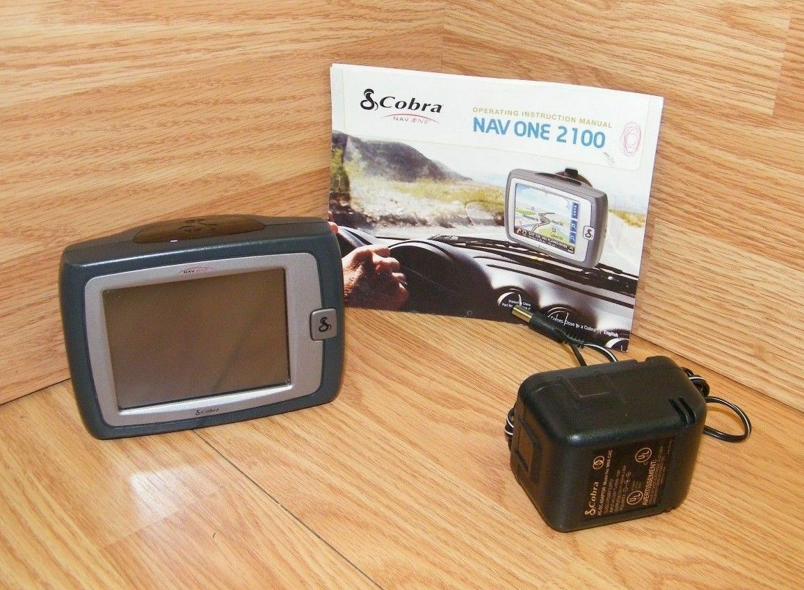 "Cobra NAV ONE GPSM 2100 Portable Mobile Navigation System w/ 3.5"" Screen *READ*"