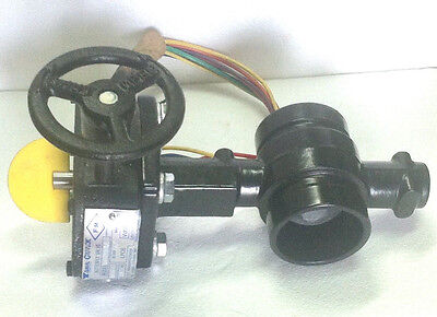 2 Grooved Iron Butterfly Valve With Tamper Switch Fire Protection Gruvlok