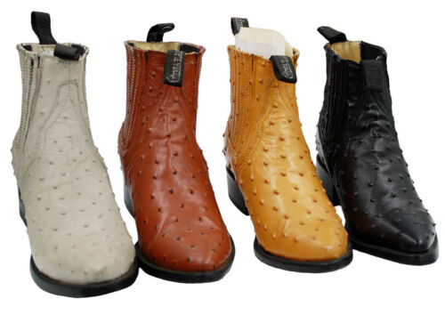 Mens, Assorted, Colors, Leather, Ostrich, Print, Cowboy, Boots, Style, 1000, Ostrich