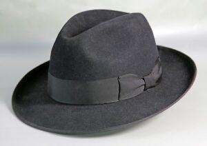 6719ce4d467 Akubra Bogart - Black Fedora Hat   47  Size 57