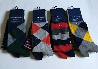 TOMMY HILFIGER Mens 2pk Dress socks Cotton Blend 2pk Cotton Sock