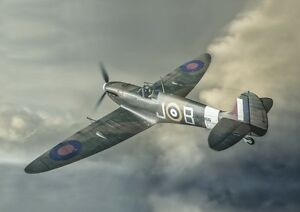 SPITFIRE POSTER - WW2 Aircraft Painting  - Aviation Print - **FREE POSTAGE**