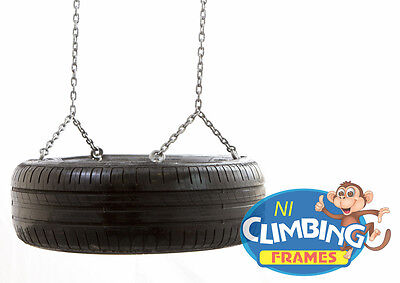 Complete Horizontal Tyre Swing & Chains: Climbing frames, For Swing Set, Outdoor