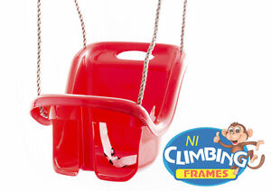 RED-High-Back-Baby-Swing-Seat-NEW-Ready-assembled-Great-Value-under-20