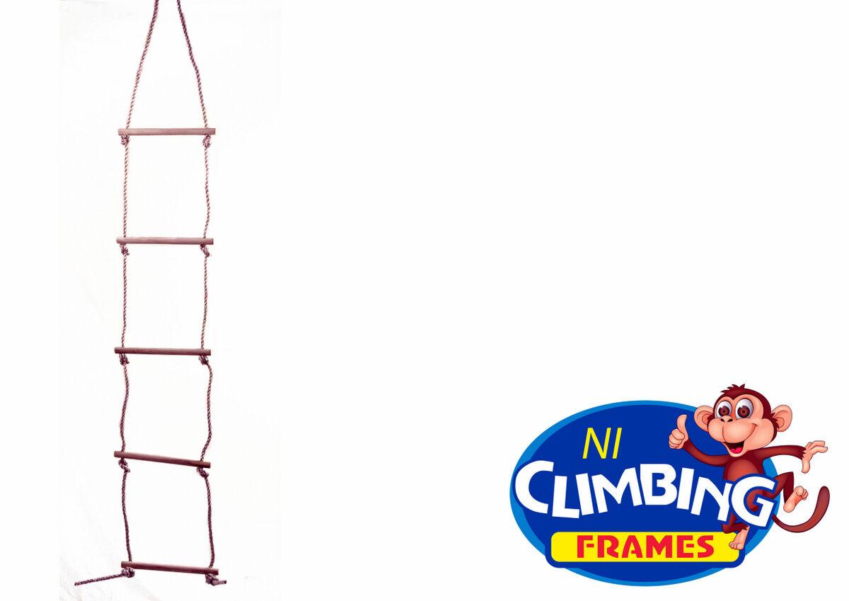 calidad de peldao de escalera de cuerda de escalada madera swing set