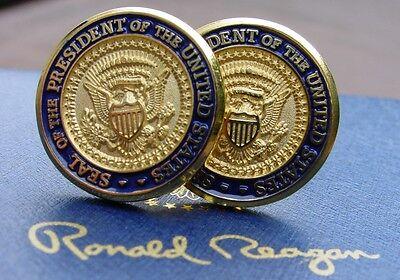 Ronald Reagan Presidential Die Cast Cufflinks/Presidential Cufflinks/White House