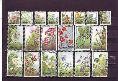 a130 - KENYA - SG257-271 MNH 1983 FLOWER DEFINITIVES - FULL SET 10c - 40/-