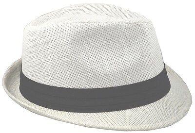 Straw Fedora-white-62cm-2xl