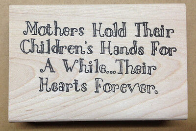 Mounted Rubber Stamps, Sentiments, Mothers Day, Sayings, Mom, Children, Baby - Mothers Day Kids Crafts