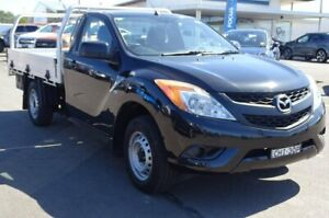 2012 Mazda BT-50 UP0YD1 XT 4x2 Black 6 Speed Manual Cab Chassis Albion Park Rail Shellharbour Area Preview