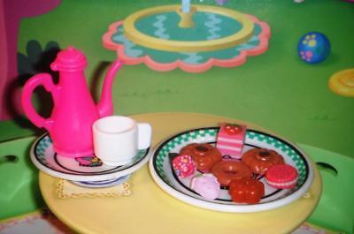 Tea Pot w/Dessert Tray and Barbie Dishes Playfood Accessories Lot B Icecream