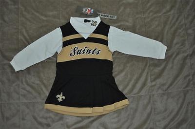 - New Orleans Saints Cheerleader Jumper & Turtleneck 2 Piece Set Toddler NWT