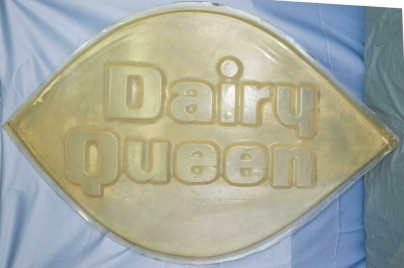 """Vintage Dairy Queen Vacuum Form Polycarbonate Sign Mold Large 36"""" dq"""