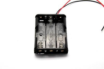 2pcs 3aa 4.5v Battery Holder Box Case With Wire Without Cover 3xaa 3x1.5v