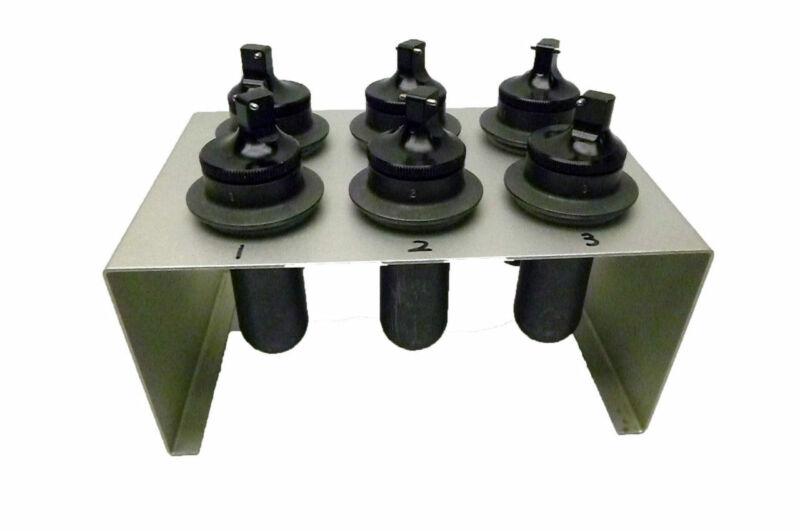 Matched Set of 6 Centrifuge Swing  Buckets 106.7 w/ Bucket Holder