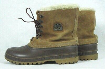 VTG SOREL Kaufman Steel Shank  Winter Boots Wool Liner Men's 13 Canada