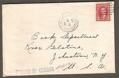 Canada Jul 1942 Wwii Cover Brookfield Colchester Ns Passed By Censor