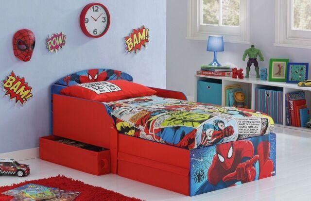 Sleeper Toddler Bed Drawers Spiderman Kids Bunk Beds