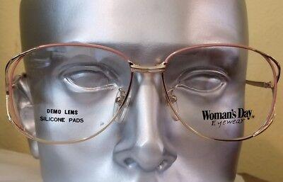 Pink gold Women Day eyewear Eyeglass Frames Vintage 90s NOS
