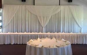 Wedding Backdrop - White 8M Coogee Cockburn Area Preview
