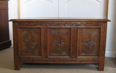 Antique 1930's Solid Oak Bedding Box