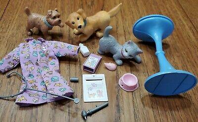 Barbie Careers Vet Animals & Accessories Dog Puppy Cat Set stethoscope no doll