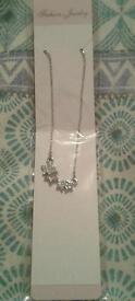 Beautiful Silver Jewel Star Necklace