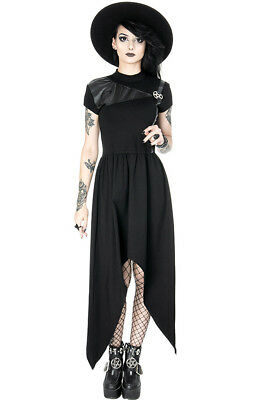 Restyle Gothic Punk Emo Occult Witch Pentagram Witch Asymmetrical Tunic - Witches Dresses