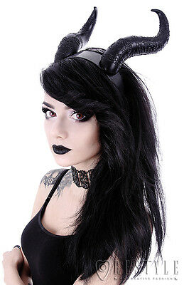 Restyle Evil Demon Horns Headpiece Headband Gothic Witchy Occult