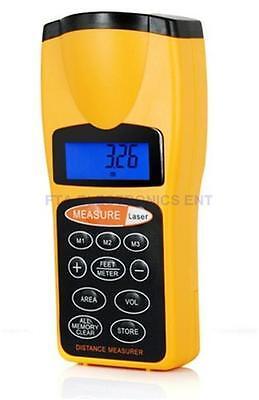 Ultrasonic Handheld Laser Pointer Distance Measurer Up To 18 Meter Or 60ft Range